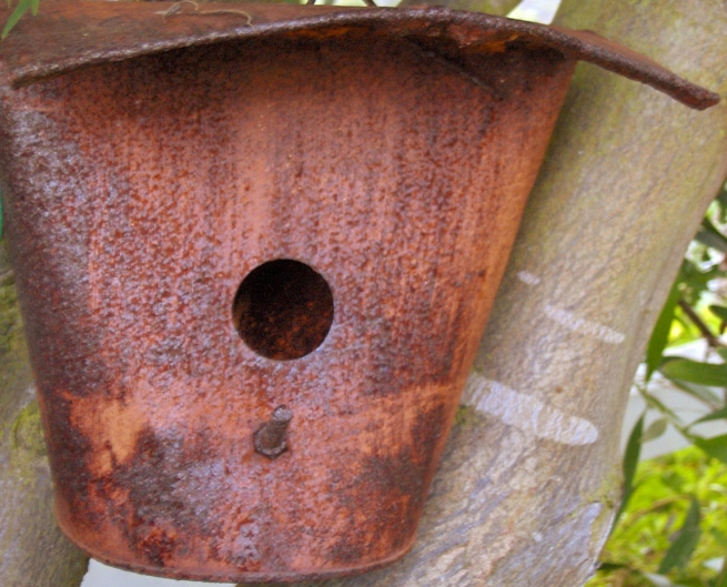 Re-purposed maple syrup bucket.
