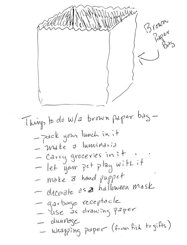 a few suggestions regarding the use of paper bags