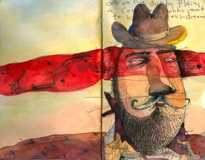 Cowboy by Bill Jaynes watercolor
